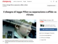 Appello su Change.org contro Ddl Pillon
