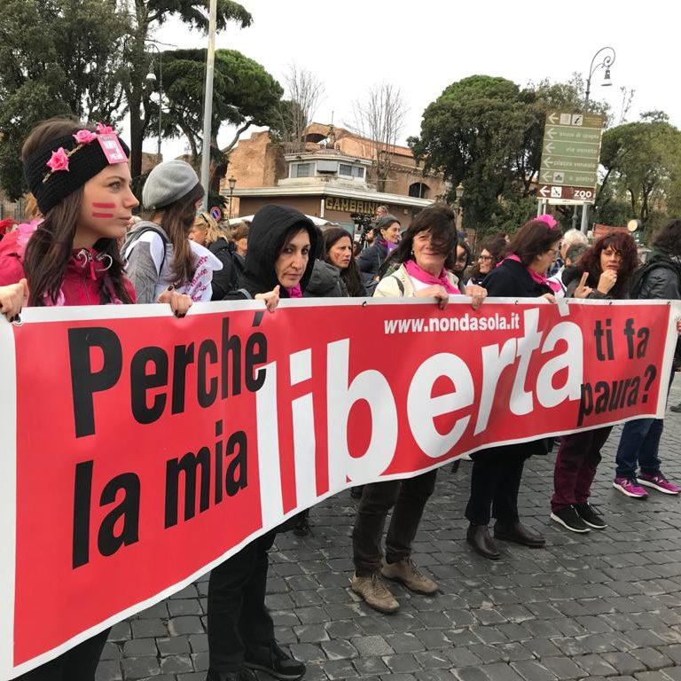 Manifestazione antiviolenza Roma 23 novembre 2019