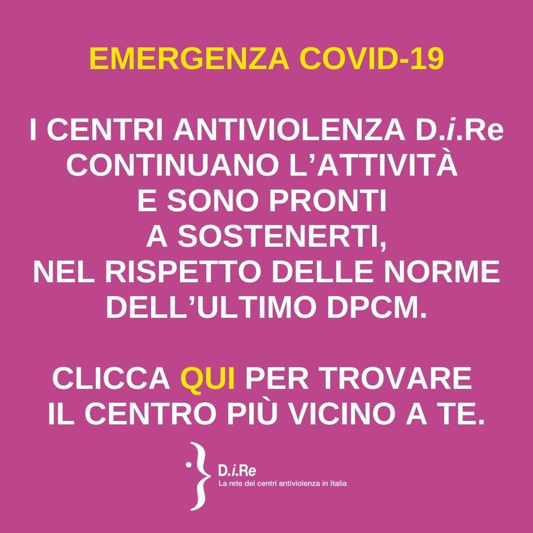 Centri antiviolenza attivi anche in emergenza