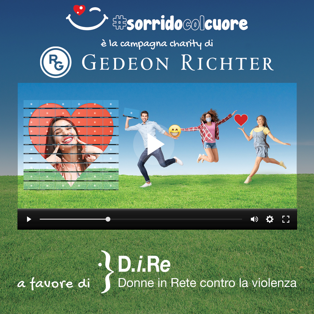 #sorridocolcuore video challenge solidale Gedeon Richter per D.i.Re