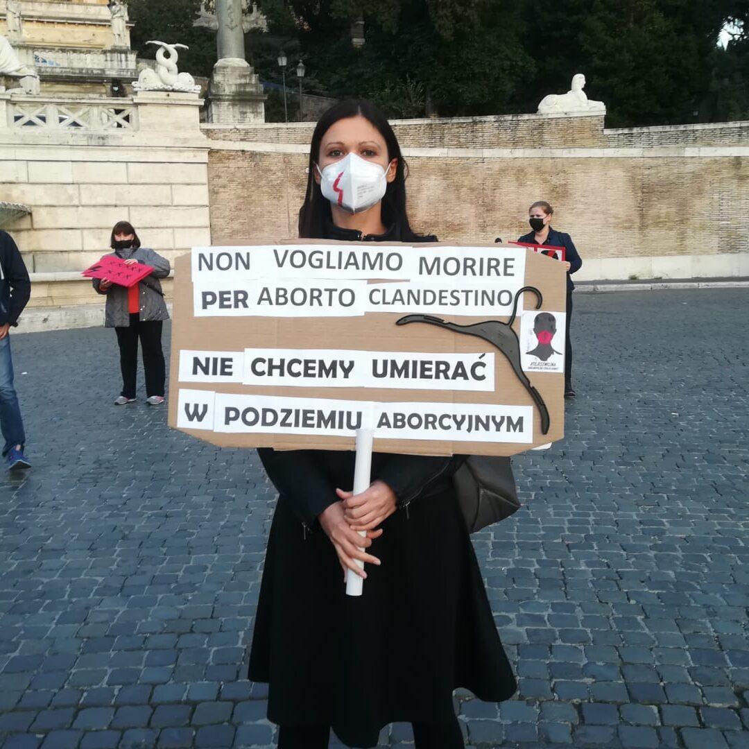 Manifestazione donne polacche Roma
